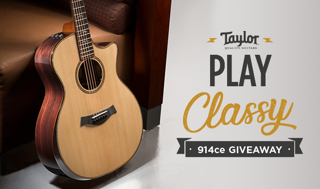 Enter to Win a V-Class 914ce Guitar in the Play Classy Giveaway