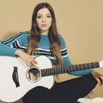 ade Bird with her Taylor Guitar