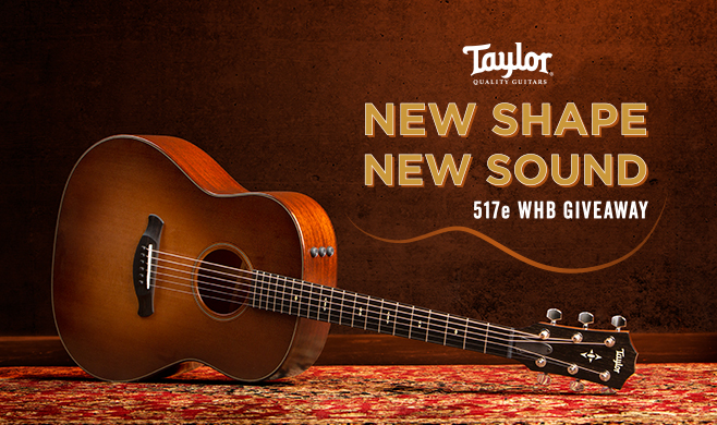 Enter the New Shape, New Sound 517e Sweepstakes | Taylor Guitars
