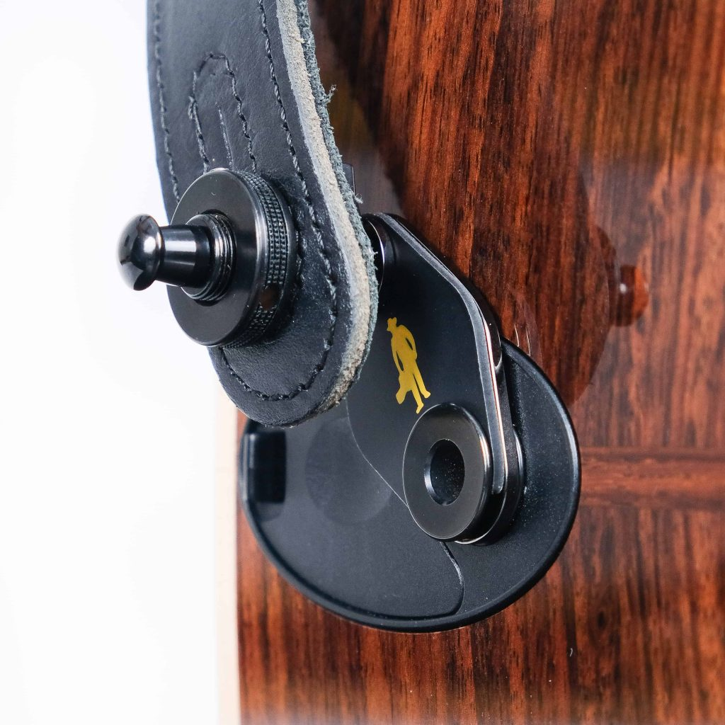 Acousti-Lok Strap Locks Adapter for Taylor guitars with a 9-volt battery box
